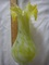Estate Vintage Retro Rare Lime Green Shaded Pulled Glass