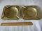 Estate Antique Retro Pair Iranian Solid Brass Ashtrays