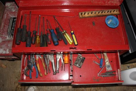 box & tools