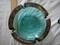 Estate 1979 Circa Cool Aqua Blue Soreno Retro Glass Ashtray