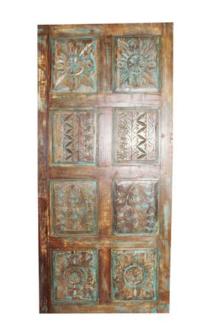 Indian Door Eclectic Interior Design Farmhouse Door Panel