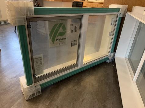 2 white vinyl windows