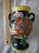 Estate Japanese Very, Very Old Hand Painted Baked Enamel Vase