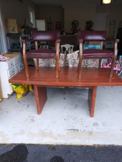 Conference table with 2 chairs