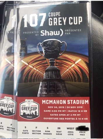 Grey cup centre field tickets!!