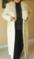 LADIES leather coat with fox collar