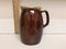 Estate Beautiful Brown Classic White Top Pottery Pitcher