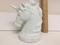 Estate White Unglazed Porcelain Unicorn Bust