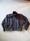 simple design italian LEATHER JACKET zipper front (size Small)