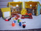 FISHER PRICE VTGE DOLL HOUSE, ACCES