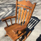 1977 Solid Oak Rocking Chair
