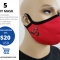 PACK 5 ea. Washable 100 % Poliester / Cotton Double Layer Mask