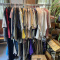 Heavy Duty Commercial Double Clothes Rack with Clothing