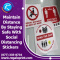 Use Custom Social Distancing Stickers To Maintain Distance