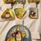 Plates:  (18) Mud Pie Entertaining Plates