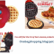 Dash Hash Browns Mini waffle maker 4 inch, Red