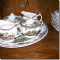 SET OF 12 - DISHES ,SET OF CRYSTAL & LOTS OF ORNAMENTS