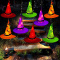 MZD8391 Halloween Decorations Lighted Witch Hats, 8Pcs GLOWING