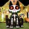 Rocinha Inflatable Black Cat Halloween Blow Up Yard Lawn Decor