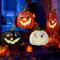 ALLADINBOX Halloween Metal Stakes Pumpkin Jack o Lantern Spooky
