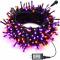 Orange Purple Halloween Lights,66Ft 200 LED String Lights